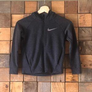 NWOT Nike Zip Front Kid's Sweatshirt Sz 5-Charcoal